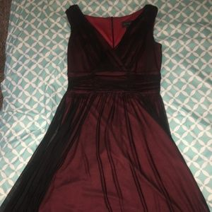 Connected Apparel Size 14 Red and Black Dress